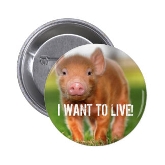 I WANT TO LIVE! 6 CM ROUND BADGE