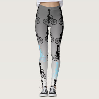 I Want To Ride My Bicycle. (Cyan) Leggings