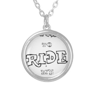 I Want To  Ride My Bicycle Silver Plated Necklace