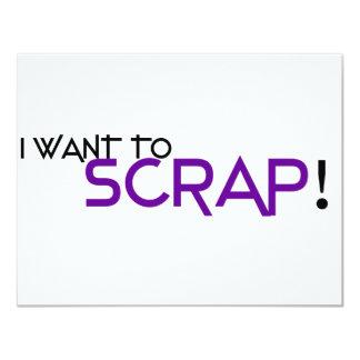I want to Scrap Invite