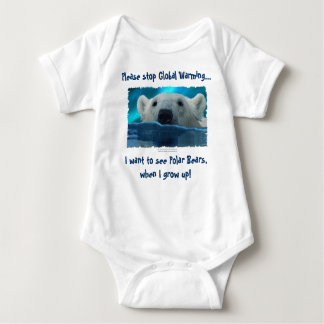 """I WANT TO SEE BEARS..."" Polar Bear Art Baby Bodysuit"