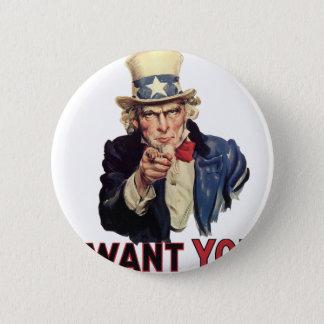 I want you, America US/USA, SAD 6 Cm Round Badge