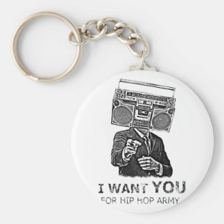 I want you for hip-hop army key ring