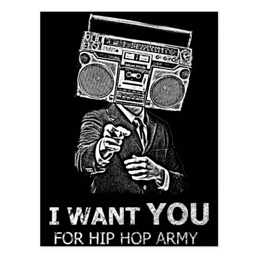 I want you for hip-hop army postcards