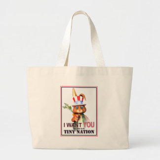 I Want You for our Tiny Nation Tote Bags