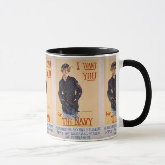 """""""I Want You for the """" WW II Recruiting Poster Mug"""