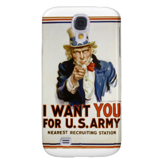 I Want You for U.S. Army by James Montgomery Flagg Samsung Galaxy S4 Covers