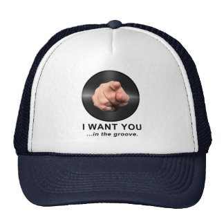 I Want You in the Groove Mesh Hats