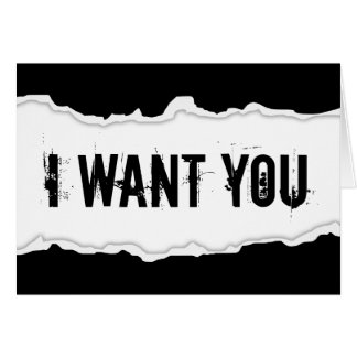 i want you page rip note card