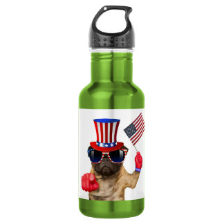 I want you ,pug ,uncle sam dog, 532 ml water bottle