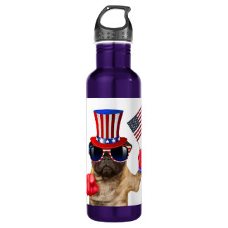 I want you ,pug ,uncle sam dog, 710 ml water bottle