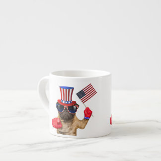 I want you ,pug ,uncle sam dog, espresso cup