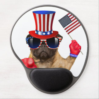 I want you ,pug ,uncle sam dog, gel mouse pad