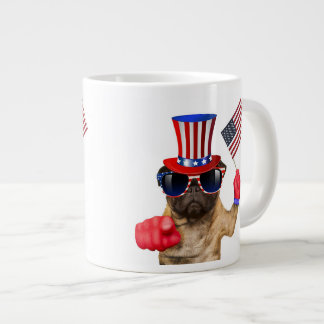 I want you ,pug ,uncle sam dog, giant coffee mug