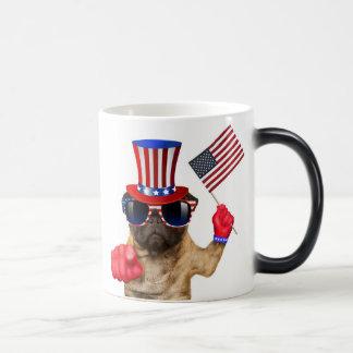 I want you ,pug ,uncle sam dog, magic mug
