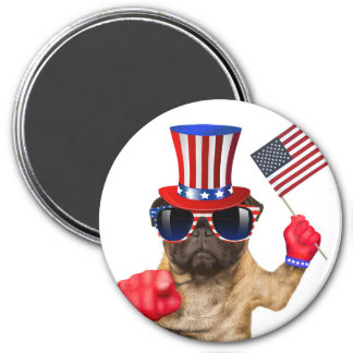 I want you ,pug ,uncle sam dog, magnet