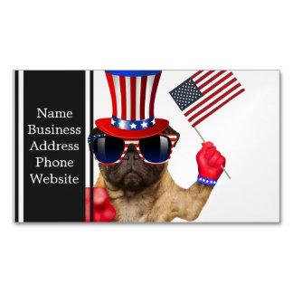 I want you ,pug ,uncle sam dog, Magnetic business card