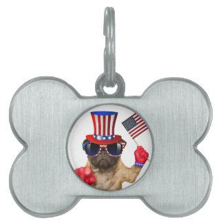 I want you ,pug ,uncle sam dog, pet ID tag