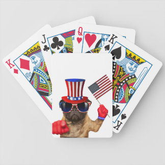 I want you ,pug ,uncle sam dog, poker deck