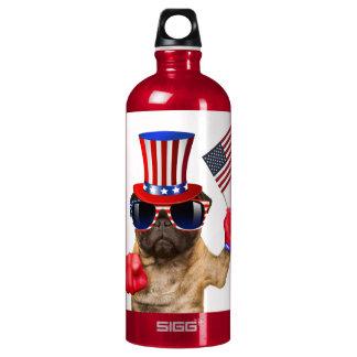 I want you ,pug ,uncle sam dog, SIGG traveller 1.0L water bottle