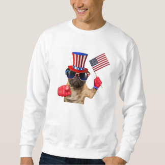 I want you ,pug ,uncle sam dog, sweatshirt