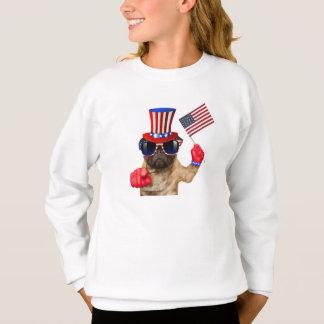 I want you ,pug ,uncle sam dog, sweatshirt