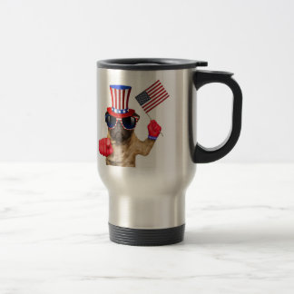 I want you ,pug ,uncle sam dog, travel mug