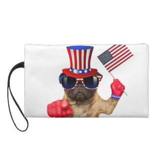 I want you ,pug ,uncle sam dog, wristlet