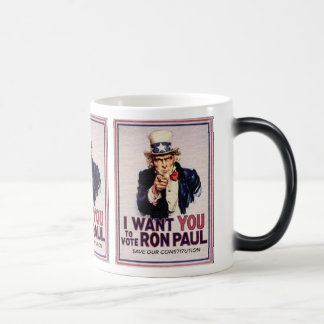 I Wan't You to Vote RON PAUL Save our Constitution Magic Mug