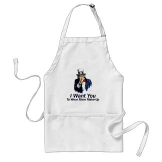 I Want You: To Wear More Make-Up Standard Apron