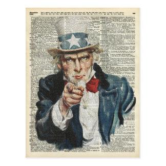 I Want You Uncle Sam Postcard
