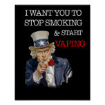 I Want You Uncle Sam Vape Premium Poster