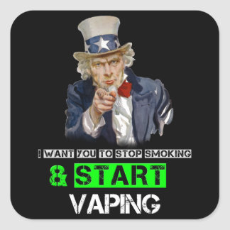 I Want You Uncle Sam Vape Square Sticker