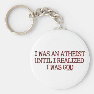 I Was An Atheist Basic Round Button Key Ring