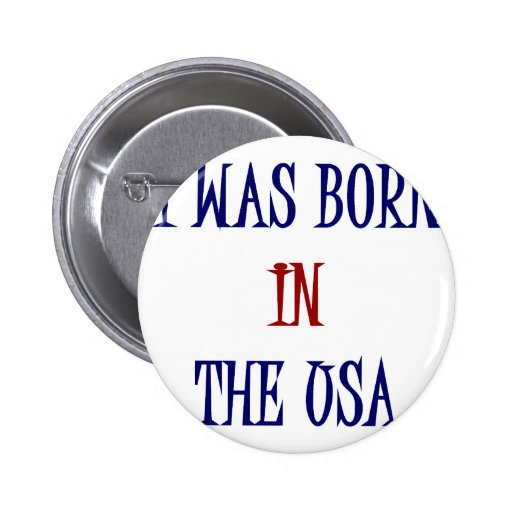 I Was Born In The USA Pin