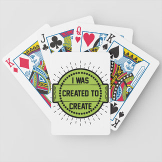 I was created to create bicycle playing cards