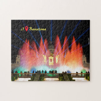 I was in Barcelona: Magical Fountain Jigsaw Puzzle