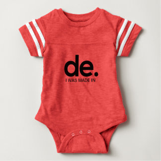 I WAS MADE IN GERMANY BABY FOOTBALL BODYSUIT