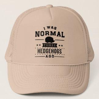 I Was Normal Three Hedgehogs Ago Trucker Hat