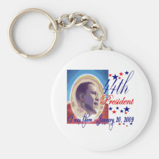 I was there 1 20 09 Inauguration Day 44th Presiden Basic Round Button Key Ring