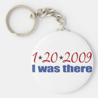 I was There 1-20-09 Obama Basic Round Button Key Ring