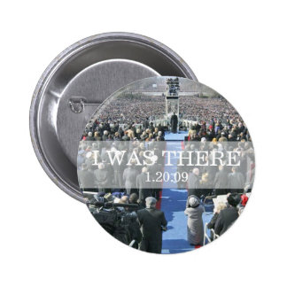 I WAS THERE: Crowd at Inauguration Ceremony 6 Cm Round Badge