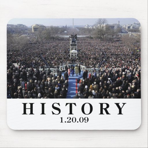 I WAS THERE: Crowd at Inauguration Ceremony Mouse Pads