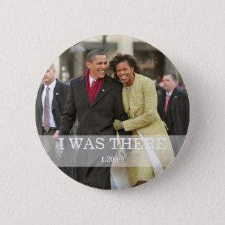 I WAS THERE: President Barack and Michelle Obama 6 Cm Round Badge