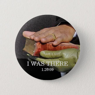 I WAS THERE: President Obama Hand on Lincoln Bible 6 Cm Round Badge