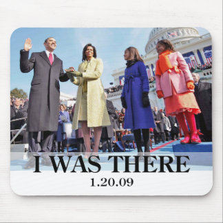 I WAS THERE: President Obama Swearing In Ceremony Mouse Pad