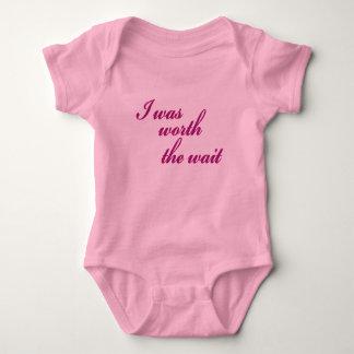 I Was Worth The Wait Baby Bodysuit
