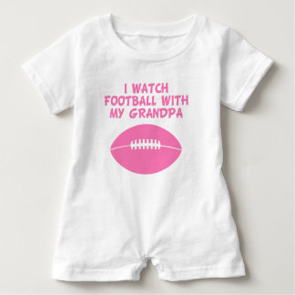 I Watch Football With My Grandpa Baby Bodysuit