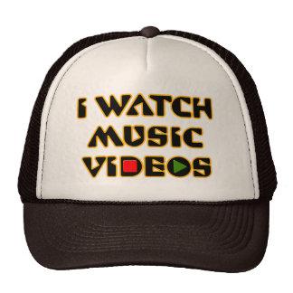 I WATCH MUSIC VIDEOS TRUCKER HATS