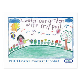 I Water Our Garden with My Pail Postcard
